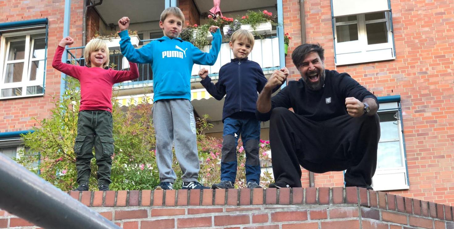 Parkour-Training für Kids ist gestartet